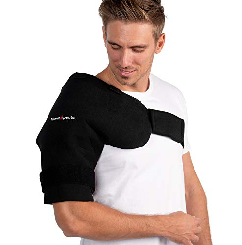 Shoulder Compression Ice/ Hot/ Cold Gel Wrap for Shoulder Injuries (Medium to Large Frame Fit) - Rotator Cuff, Rheumatoid Arthritis, Bursitis, Osteoarthritis,Tendinitis, AC Joint Pain Relief by Thermopeutic (Image #5)