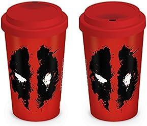 Deadpool To Go Kaffee Becher Travel Mug auslaufsicher spülmaschinengeeignet 14cm Keramik