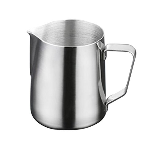 OUNONA 1000ml Stainless Steel Frothing Pitcher Milk Frothing Jug Latte Pourer Cappuccino Coffee Jug (Silver) by OUNONA
