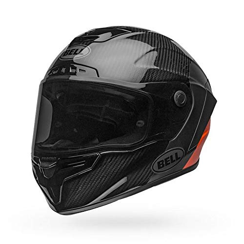 Bell Race Star Flex DLX Adult Street Motorcycle Helmet - Lux Matte/Gloss Black/Orange/X-Large
