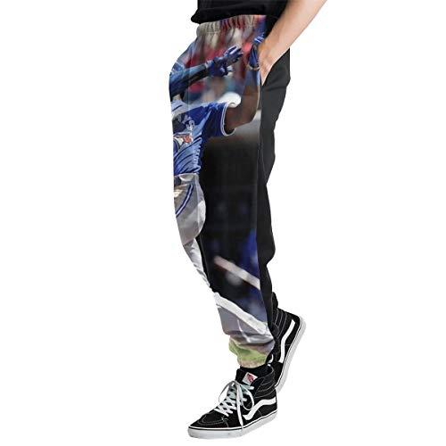 Lovesofun Toron-to Blue Jay-s Men's Casual Jogger Sweatpants Sports Trousers Pant Elastic Waist L ()