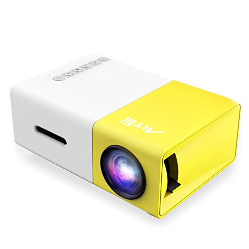 Artlii portable mini home 1080p projector with usb sd av for Portable pocket projector reviews