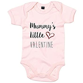 MUMMY IS MY VALENTINE 0-24mths Baby Grow Bodysuit