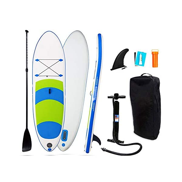 Stand Up Paddel Gonfiabile Non Slip gonfiabile SUP Stand Up Paddle Board con regolabile bagagli Paddle Carry Bag e la… 1 spesavip
