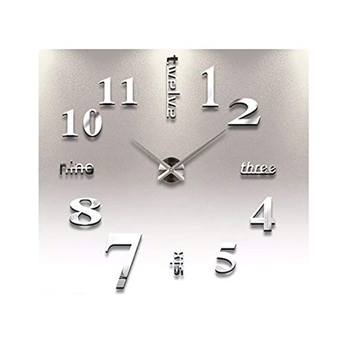 - Adarl 3D Mirror Surface Sticker Modern DIY Large Wall Clock Home Room Decor