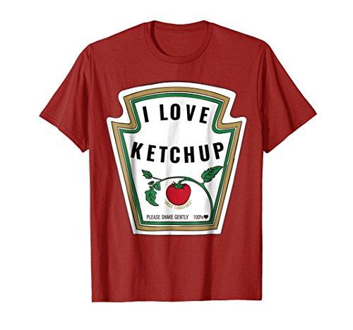 I Love Ketchup T-Shirt Ketchup Costume Shirt -