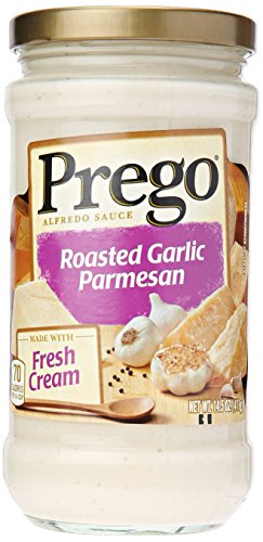 Garlic Alfredo Sauce - Prego Alfredo Sauce, Roasted Garlic Parmesan, 14.5 Ounce (Packaging May Vary)