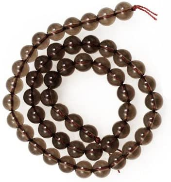 SQ334 69 pcs Winter 15.5 Strand Natural Dark Brown Sparkly Craft Jewelry Making Supplies Smoky Quartz : 6mm Faceted Round Beads