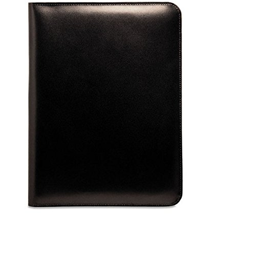 Jack Georges Unisex [Personalized Initials Embossing] Elements Letter Size Writing Pad Cover in Black by Jack Georges