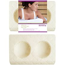 Descansa Breast Comfort Pillow Memory Foam, Ivory Case, Large size, Improved.