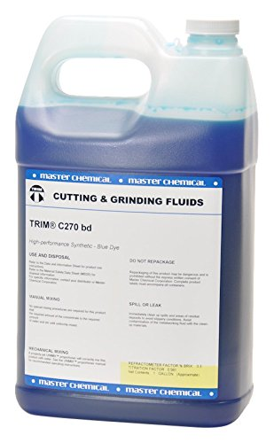 TRIM Cutting & Grinding Fluids C270BD/1 High Performance Synthetic Coolant, Blue Dye, 1 gal Jug by TRIM