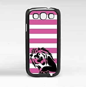 Lion with Pink Stripes Hard Snap on Case (Galaxy s3 III)