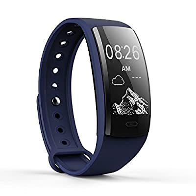Sundray QS90 Fitness Tracker,Activity Tracker with Heart Rate Monitor,IP67 Waterproof,Smart Bracelet with Step Tracker Sleep Monitor Calorie Counter Pedometer Watch for Android and iOS