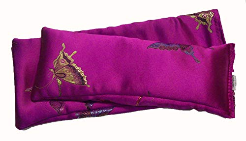 (Flax Seed Eye Pillow Scented with Lavender Buds. (10 x 4 x 0.8 inches).)