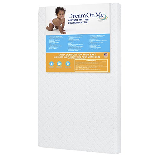Dream On Me 3 Mini/Portable Crib Mattress, White