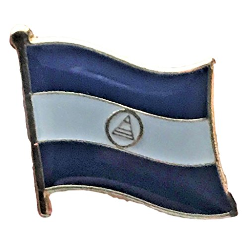 Backwoods Barnaby Nicaragua Flag Lapel Pin ()