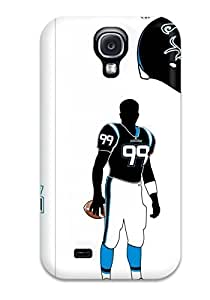 Hot Tpu Cover Case For Galaxy/ S4 Case Cover Skin - Carolina Panthers