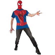 Rubies Costume Men's Marvel Universe the Amazing Spiderman 2 Top and Mask, Multicolor