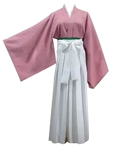 [Marshel Cosplay Japanese Kimono Costume Fancy Dress AX-JP-011 Pink L-size] (Rikku Cosplay Costume For Sale)