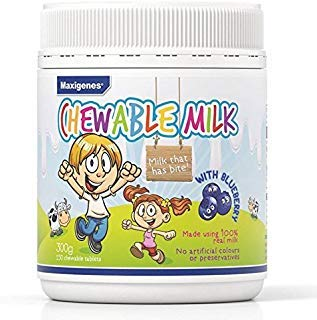 Maxigenes Chewable Milk With Blueberry 150 Tablets product of Australia
