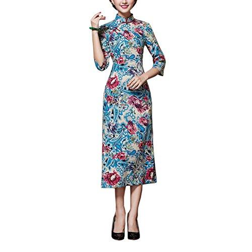 Élégant Cheongsam Oriental Qipao Robes De Costume De Style Chinois, 08