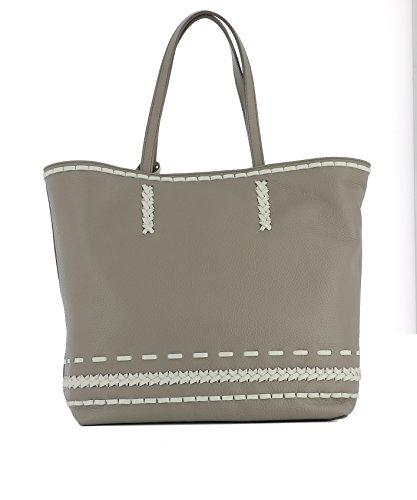 Tod's Borsa Shopping Donna XBWAMWAI300RIB1Z06 Pelle Grigio