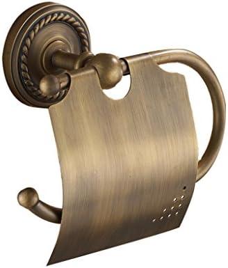 GONDD 浴室用ロールホルダー全銅アンティークトイレットペーパーホルダー壁掛け収納ラック、サイズ:18 x 7 x 7.5 cm