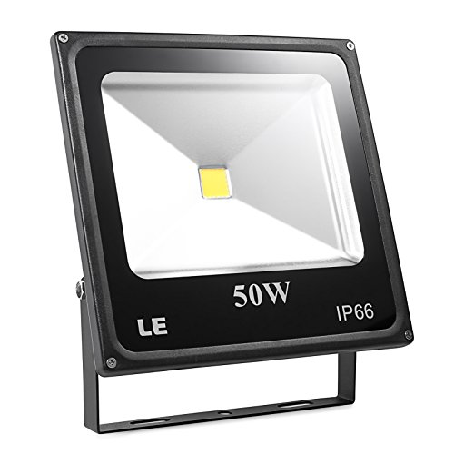 LE 50W Super Bright Outdoor LED Flood Lights,150W HPS Bulb Equivalent, Waterproof IP66, 3750lm, Daylight White, 6000K, Security Lights, Floodlight (Daylight White)