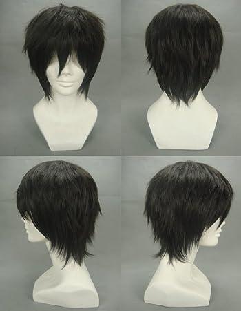 COSPLAZA para adultos peluca con corte Durarara! Izaya Orihara ...