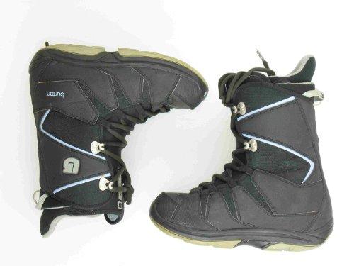 Used Burton Moto Black Snowboard Boots Women's Size 9.0