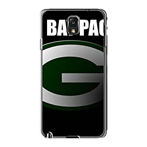 Shock Absorption Hard Cell-phone Case For Samsung Galaxy Note 3 With Provide Private Custom HD Green Bay Packers Skin EricHowe