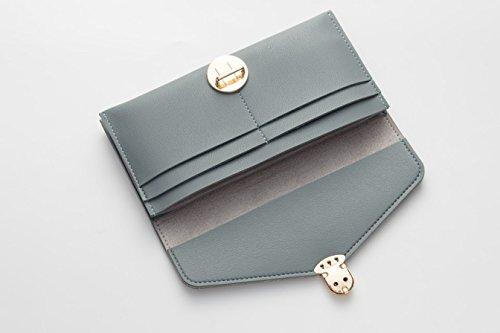 Damen Leder Geldbörsen Taschen Damen Portemonnaie Damen Geldbeutel Damenhandtasche,Brieftasche Kreditkartenetui Wallet,RFID-Diebstahlschutzmappe. Abschirmmaterial auswählen F