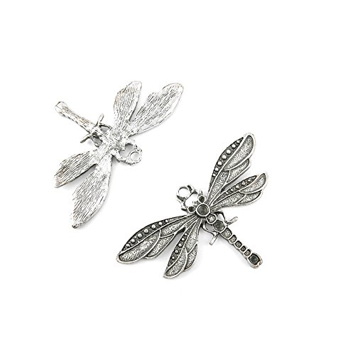 10 Pcs Jewelry Making Charms 768XQ Dragonfly Antique Silver Fashion Finding for Necklace Bracelet Pendant Crafting Earrings]()
