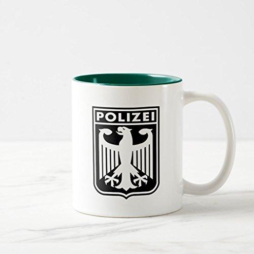 Zazzle Polizei Coffee Mug, Hunter Green Two-Tone Mug 11 oz