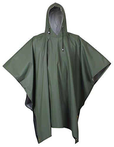 Rothco Rubberized Rainwear Poncho Olive Drab