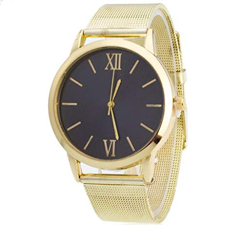 LUCA Women's Quartz Analog Watch with Stainless Steel Band and Ultra-Thin Mesh Bracelet ()