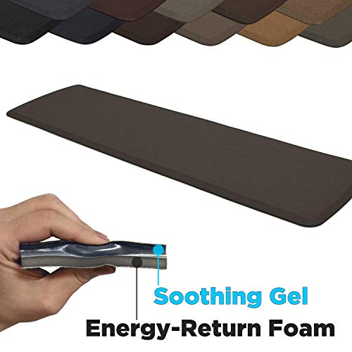 GelPro Elite Premier Anti-Fatigue Kitchen Comfort Floor Mat, 20x72