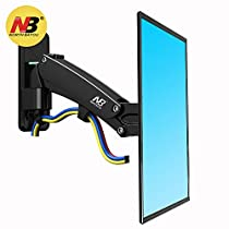 North Bayou TV Wall Mount Bracket Full Motion Articulating Swivel for 40 to 50 Inch TV with Gas Spring F350-B