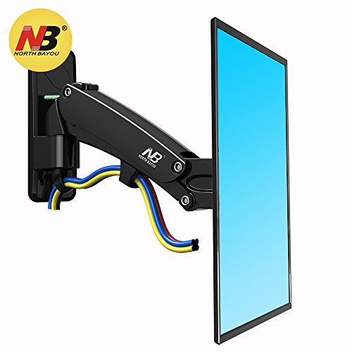 North Bayou Full Motion Gas Spring TV Wall Mount Bracket for