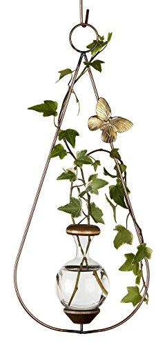 Brass Hanging Butterfly (The Brass Butterfly Hanging Teardrop Planters)