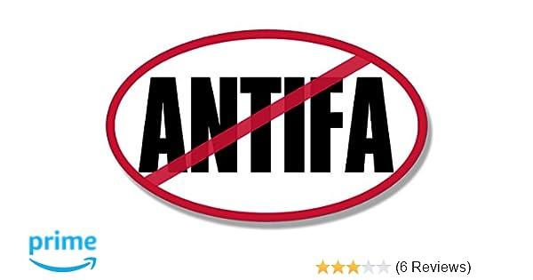 American Vinyl Oval No Antifa Sticker (Anti nutjob Liberal Protester Left)
