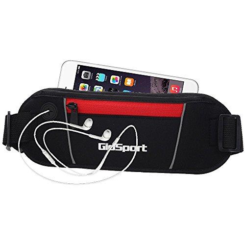 GioSport Running Belt, Waist Pack, Best Sports Belt/Pouch  Fanny Pack,