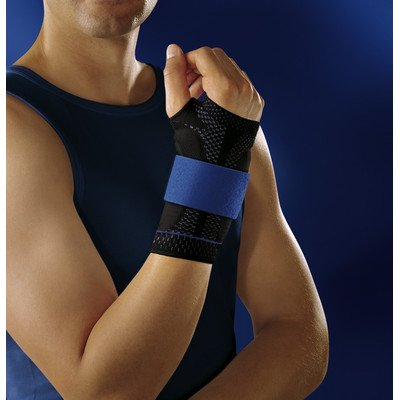 Bauerfeind 11051503070606 Manutrain Wrist Support, Right, Size 6, 7-1/2''-7-3/4'' Circumference, Black/Blue by Bauerfeind