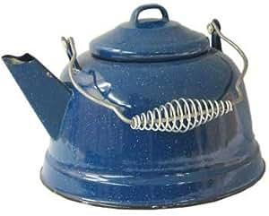 Camping Blue Enamel Tea Kettle 2 4/5qt