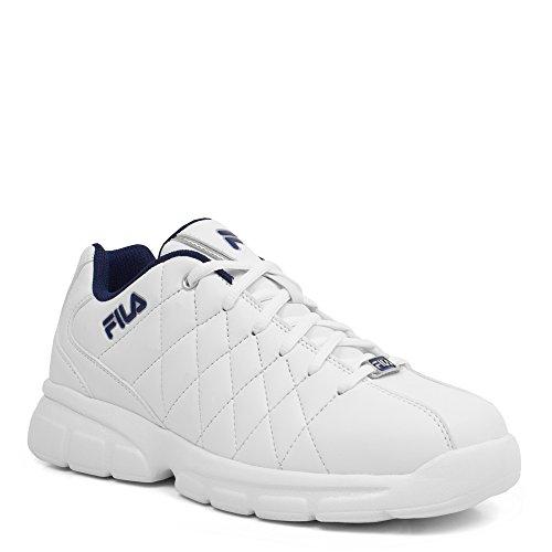 Fila Men's Fulcrum 3 Cross Trainer, White Navy, 12 D US (3 Mens White Shoes Trainers)