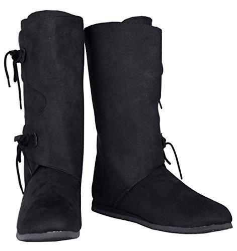 Mens Barbarian SharpSpirit Costume Peasant Halloween Medieval Boots The Conan wSwnxBqUT