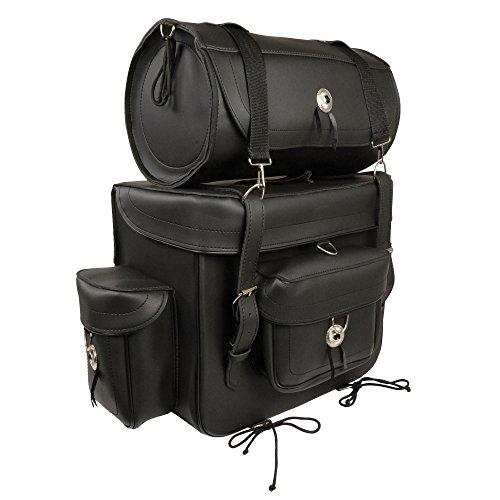 HelmetUSA-Large 2 Piece PVC Touring Sissy Bar Bag