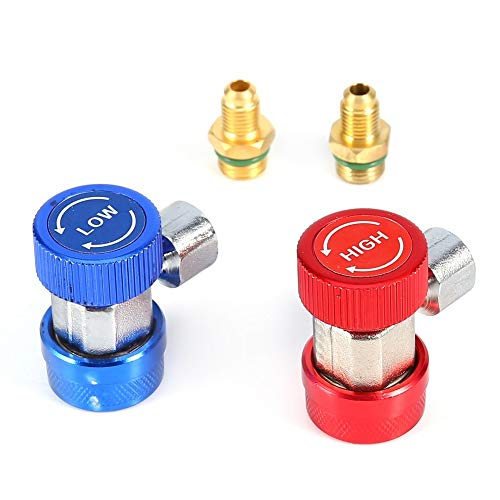 Daphot-Store - Car-styling2x R134A Car AC Air Condition Adjustable Quick Coupler High Low Auto Adapter Connector