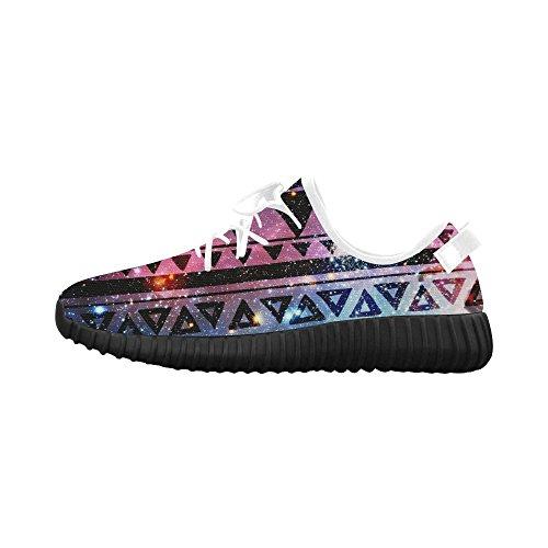 D-story Tribal Aztec Grus Mens Boost Schoenen Boost Sneakers Energy Bounce Ademend Geweven Hardloopschoenen Voor Heren