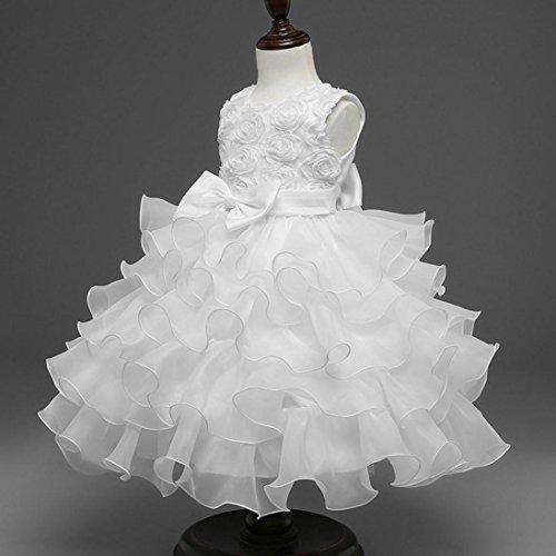 5dd6824e005f3d Longra Robe de Princesse Bébé Filles Fleur Mariage Fleur Fille Princesse  Robe Habillée Robes Robe De
